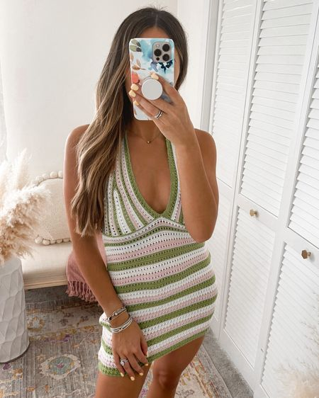 Summer Vacation Crochet Colorful Striped Dress / Beach Coverup  Wearing size SMALL   http://liketk.it/3k2cu #liketkit @liketoknow.it @liketoknow.it.brasil @liketoknow.it.europe @liketoknow.it.family @liketoknow.it.home #LTKtravel #LTKunder50 #LTKstyletip