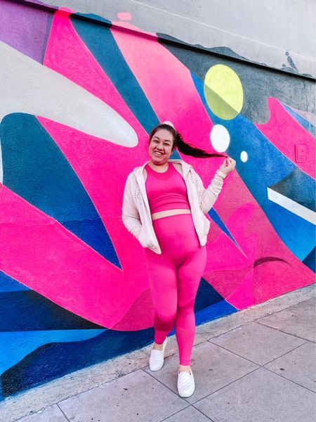 Pinking About Hashtag Fitness! 💖💪🏻 Nothing better than a matching hot pink neon workout set to inspire you to exercise! I was all about athleisure wear for a while and bought quite a few pieces to add to my collection. ✨ This is my favorite I have and always feel so cute in it when I wear it. 💗What's your favorite color workout set? 🤔  #LTKcurves #LTKfit