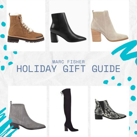 ❄️ MARC FISHER HOLIDAY GIFT GUIDE ❄️  michellemakingmoves gift guide, Christmas presents, gifts for her, unique gifts, pointed toe bootie, winter boots, over the knee boots, snakeskin boots, Marc fisher boots    #LTKgiftspo #LTKunder100 #liketkit @liketoknow.it    http://liketk.it/3326A