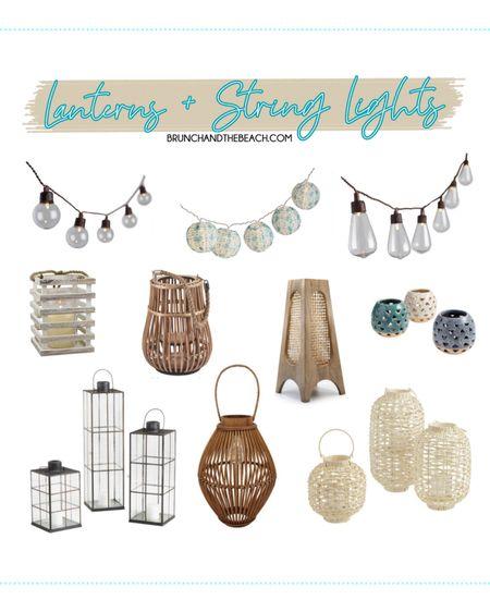 7 WAYS TO ELEVATE YOUR OUTDOOR SPACE: Lanterns + String Lights  http://liketk.it/3e6BN  #liketkit @liketoknow.it #LTKunder50 #LTKhome #LTKunder100