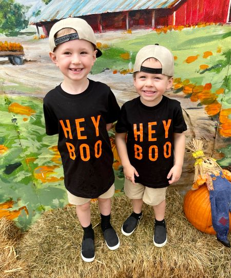 Boys Hey boo t shirt! Shipped super fast and perfect for the pumpkin patch picture and fall outfit for Halloween    #LTKkids #LTKHoliday #LTKSeasonal