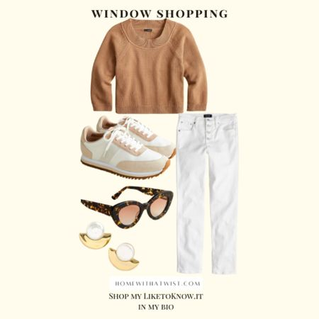 Window shopping for transitional outfits to take me from summer into fall. I love this look from J Crew!   #LTKfamily #LTKunder100 #LTKworkwear