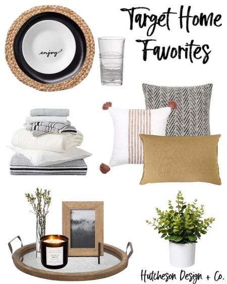 Our favorite HOME items at TARGET right now! • 1. Simple table setting — perfect for layering seasonal decor! 🍽 2. Dreamy comforter from Hearth & Hand by Magnolia ☁️ 😴 10/10 would recommend! It's seriously our favorite ever. 3. Warm colored throw pillows to bring in a touch of autumn & fall 🍁 4. Decorative tray & decor for styling! 🌿 • I love them all!! Which are your favorites?! Share in the comments below 👇🏼👇🏽👇🏾 • • •  #LTKhome #LTKstyletip #LTKunder100   Follow me on the LIKEtoKNOW.it shopping app to get the product details for this look and others http://liketk.it/2VV9T #liketkit @liketoknow.it @liketoknow.it.home