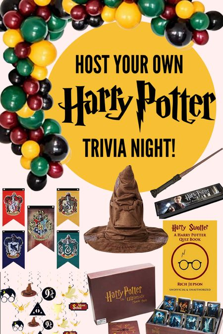 Host your own Harry Potter themed trivia night or birthday part with this party decor from Amazon! #harrypotter #trivianigjt #party #partydecor #partysupplies  #LTKHoliday #LTKSeasonal #LTKunder50