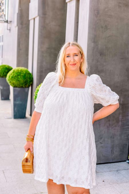 Happy Saturday, y'all! I got up and scrubbed my apartment top to bottom (man, does that feel good after) 🧼🧹🧽 and I've got a new blog post up sharing this cute little dress that, if you're like me, will wear past Labor Day! There are no rules to fashion and I like wearing white year round! Do you agree? Wearing the large in this FYI     #LTKcurves