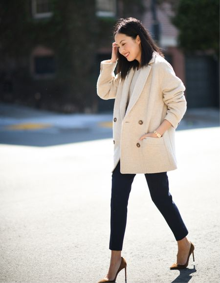 Jacket season 😍 Navy trousers are a mainstay in my wardrobe - these are several years old but I linked to a variety below!   #LTKstyletip #LTKworkwear