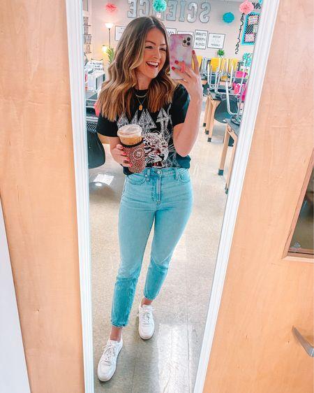 Target graphic tee in M. Madewell perfect vintage jeans in 26. Veja sneakers. #liketkit http://liketk.it/3gJw7 @liketoknow.it