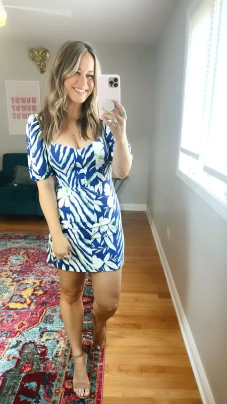 I bought this dress for a wedding guest dress but it came too late but it's the perfect summer dress for our summer vacation next month. Wearing a size 6, it runs a bit small!  #LTKunder50 #LTKwedding #LTKsalealert
