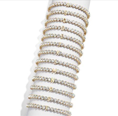 Sweet little initial stretch bracelets from the #nsale - great gift idea   #LTKunder50 #LTKsalealert #LTKstyletip