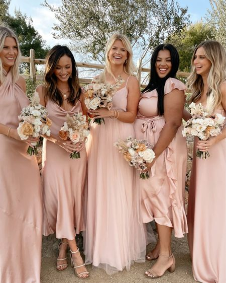 Blush bridesmaids dresses for your gals! Love that they come in lots of colors and sizes XXS to 3X   #LTKwedding http://liketk.it/3fzPM #liketkit @liketoknow.it