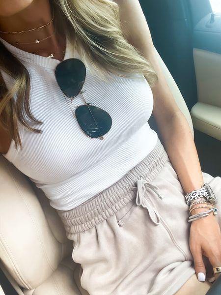 White bodysuit size Xs, shorts size Xs   #LTKunder50 #LTKunder100 #LTKstyletip