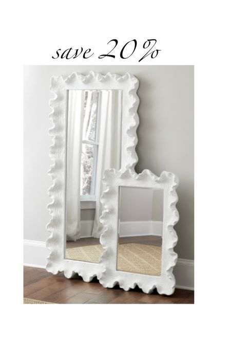 save 20% on my mirrors. I have both sizes. I love that they are lightweight and have coastal vibes.  #LTKstyletip #LTKhome #LTKsalealert