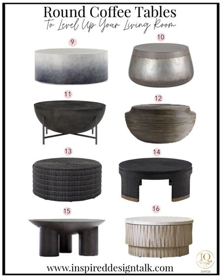 Awesome modern round coffee tables that will update your living room.  Living room decor, living room inspiration, home decor, home design, coffee table, drum coffee table, round coffee table, wood coffee table, ombré coffee table, cement coffee tables.   You can instantly shop my looks by following me on the LIKEtoKNOW.it shopping app   #LTKstyletip #LTKhome #LTKmens
