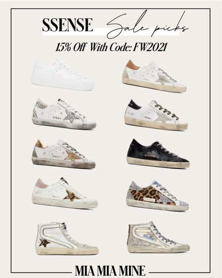 Golden goose sneakers on sale at SSENSE - take 15% off with code FW2021  #LTKstyletip #LTKshoecrush #LTKsalealert