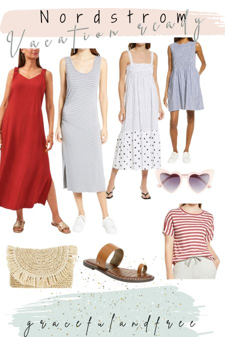Nordstrom Vacation Ready outfit ideas. Women's summer style. Dresses to wear all summer long   #LTKstyletip #LTKunder50 #LTKunder100