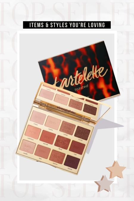 BEST SELLER ⭐️ Tarte's toasted eyeshadow palette! Love the warm times in this for the fall season  #LTKunder100 #LTKbeauty #LTKstyletip