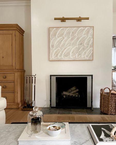 Fireplace accessories in the living room. #homedecor #homestyle  #LTKhome #LTKstyletip