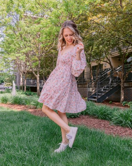 Picture me in the trees before I learned civility 🌿 Dress & my fav @vionicshoes sneaks for this sunny, dreamy MN day 🌸 Finishing getting out new place set up with the windows open, and listening to the chirping birds & MFM 🥰 . . . You can shop this look by going to the link in my bio or by following me in the @liketoknow.it app 🌿🌸✨ http://liketk.it/3fRrl #liketkit #LTKunder100 #LTKshoecrush #LTKstyletip