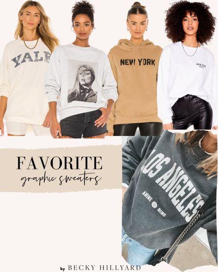 My favorite graphic sweatshirts