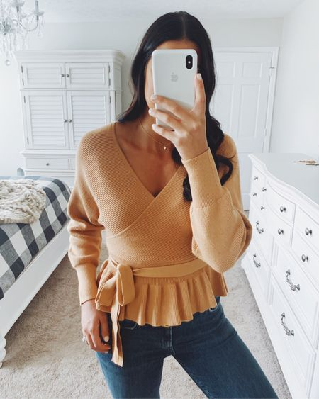 Peplum fall sweater from Amazon fashion - my fave sweater from Amazon! So great for fall and holidays. Medium.   #LTKunder50 #LTKSeasonal