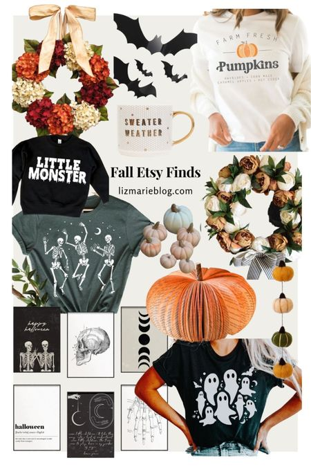 Each year I like to round up some fall Etsy finds that support small shops! Check out this years and more on lizmarieblog.com!  #LTKhome #LTKSeasonal
