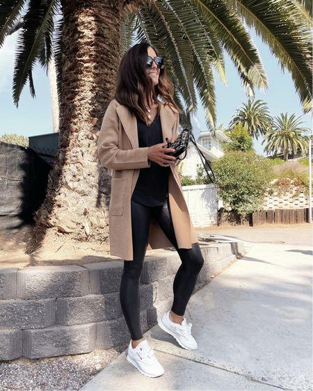 Fall style, fall coat, comfy casual, faux leather leggings, StylinByAylin   #LTKunder100 #LTKstyletip #LTKSeasonal