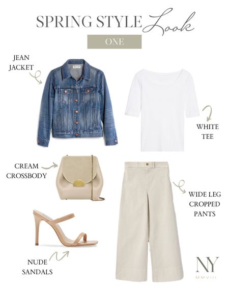jean jacket, white tshirt, white tee, basic white shirt, cotton shirt, cotton tee, summer heels, sandal heel, slide heel, natalie yerger http://liketk.it/2PVjc #liketkit @liketoknow.it #LTKunder100 #LTKunder50 #LTKsalealert