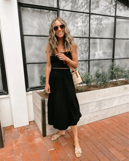 Black ribbed two piece set for lunch, runs true to size, great for summer //   #LTKstyletip