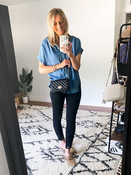 Pretty safe to say I have a pretty strong obsession with denim shirts. Love this lightweight one!  #LTKunder100 #LTKstyletip #LTKunder50