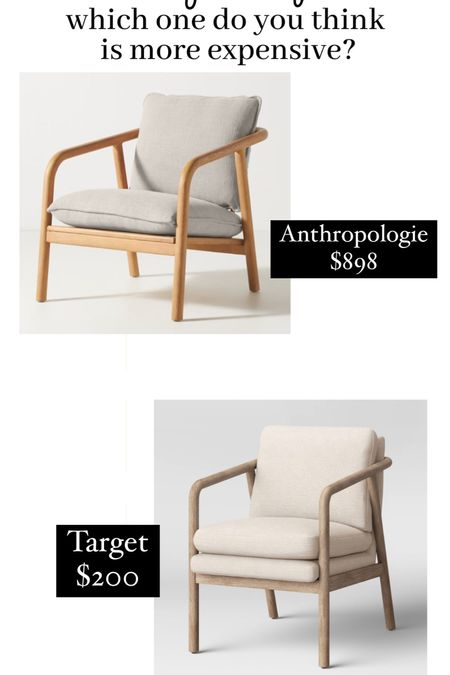 Anthropologie accent chair dupe from Target.   #LTKhome #LTKSeasonal #LTKfamily