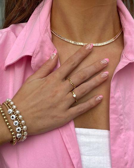 Dainty gold jewelry ✨ jewelry, gold jewelry, gold ring, bracelet stack, ring stack, gold filled jewelry   #LTKstyletip #LTKunder50 #LTKunder100