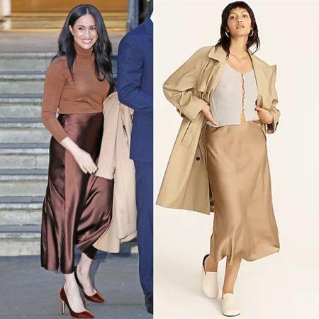 Satin skirt like Meghan's now on sale at JCrew   #LTKsalealert