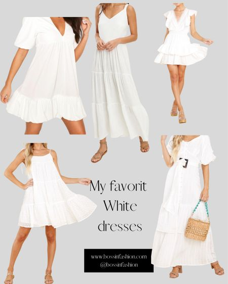Summer white is here to stay. I love white maxi dresses to short white baby doll dresses! You cannot go wrong. Shop my favorite white summer dresses! You can instantly shop all of my looks by following me on the LIKEtoKNOW.it shopping app #LTKstyletip http://liketk.it/3j4lX #liketkit @liketoknow.it #dresses #whitedress #summerwhite #summerdresses #summerwhitedresses