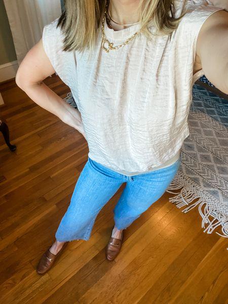 Favorite wide leg jeans!  #LTKshoecrush #LTKstyletip