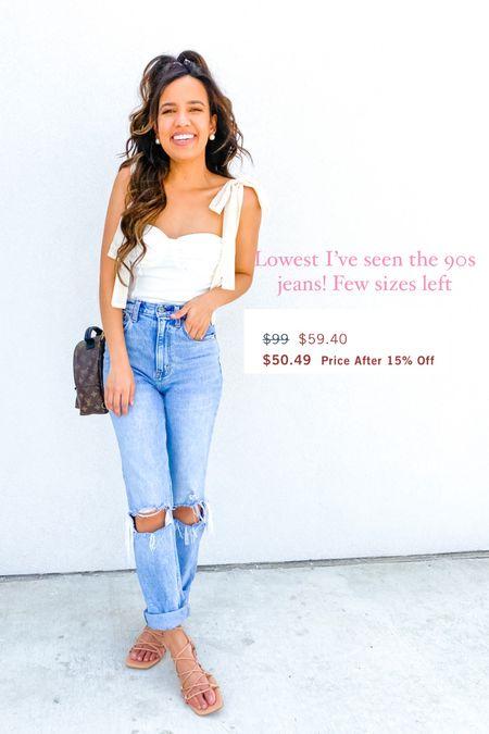 Abercrombie jeans, 90s jeans, jean sale boots   #LTKSale #LTKsalealert #LTKunder100
