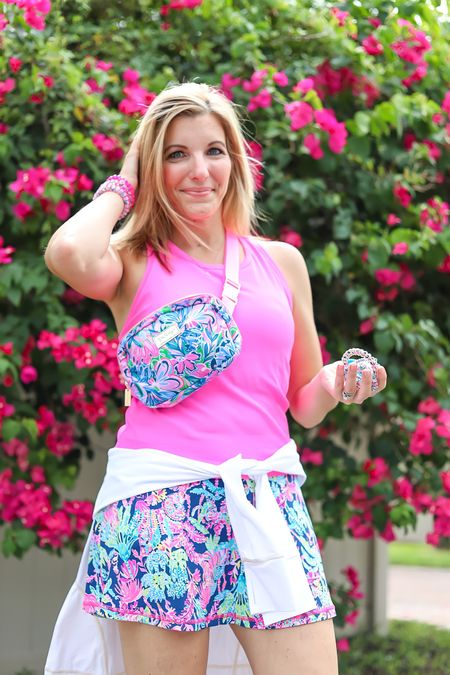 The best gifts with purchase start tomorrow at Lilly Pulitzer; spend $75 and grab the limited edition LillyxTELETIES bundle. Spend $200 for this darling belt bag. • Size up in this bra tank, runs snug. I'm wearing a medium instead of my normal small.   #LTKstyletip #LTKfamily #LTKunder100