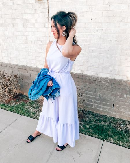 🌸🌸A lavender spring Maxi Dress perfect for day dates, date nights and spring weddings. The ruffle detail is so feminine and fun. Pastels are the color of the season and this dress is comfortable & affordable. Grab these chic slide on sandals and big sunglasses to complete your look. Or grab the Bow Accent sandals to dress it up. Enjoy!  . . .  http://liketk.it/3fWgT #liketkit @liketoknow.it    #LTKbaby #LTKstyletip #LTKunder50 #target #targetstyle #springdress #summerdress #weddingguestdress #targetfinds #targetfashion #momstyle #vacationstyle #affordablefashion #selftanner #beachvacation #purpledress #lavenderdress #lavender