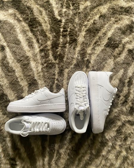 Summer wardrobes aren't complete without a pair of all white sneakers. http://liketk.it/3hV74 #liketkit @liketoknow.it / Nike/ his and hers style / matching / Shop your screenshot of this pic with the LIKEtoKNOW.it shopping app