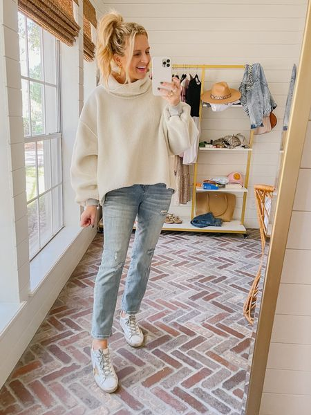 The cutest turtleneck from free people. Loving this! I'm in the size XS, but this is cropped, so you could size up in this one!!  #LTKunder100 #LTKSeasonal #LTKstyletip