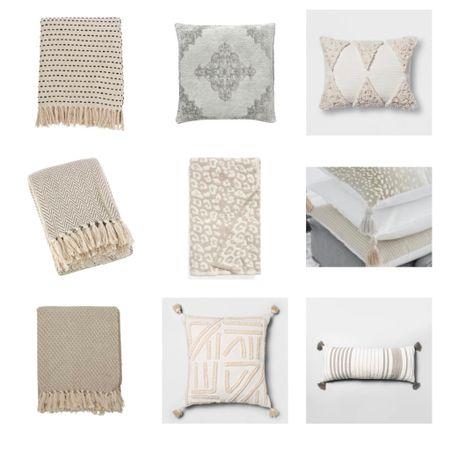 Neutral pillows and throw blankets http://liketk.it/3gLKK #liketkit @liketoknow.it #LTKDay #LTKhome #LTKstyletip @liketoknow.it.home