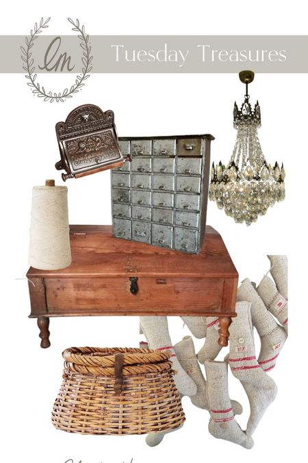 Oops! A day late at posting these Tuesday Treasures. Shop these antiques online!  #LTKhome