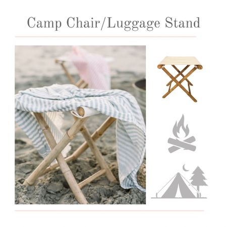 Is it a canvas chair or an indoor luggage stand? Either way this bamboo canvas stand is so versatile and mobile. I plan to use two at the end of a bed at the Summer lake house but it may end up out by the campfire too!    #kimbentley #summer #homedecor  #LTKSeasonal #LTKhome #LTKunder50