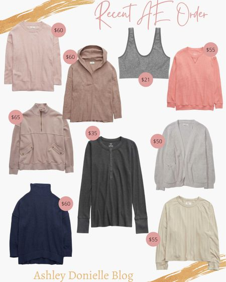 Recent American Eagle order - sweatshirts, sports bra, pullovers + more!  #LTKSeasonal #LTKstyletip #LTKunder100