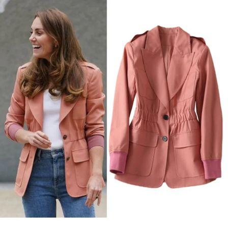 Kate Middleton pink coat lookalike #winter #jacket #streetwear #sport #casual  #LTKtravel #LTKstyletip