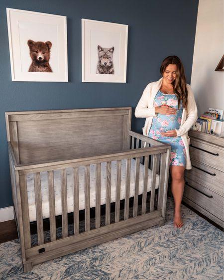 Woodland nursery theme ideas for boy. Baby animal prints, rustic white crib and dresser from target, frames, breathable mattress & sheets. Nursery decor, ideas, baby boy room. http://liketk.it/2YH80 #liketkit @liketoknow.it   #LTKbump #LTKbaby #LTKhome