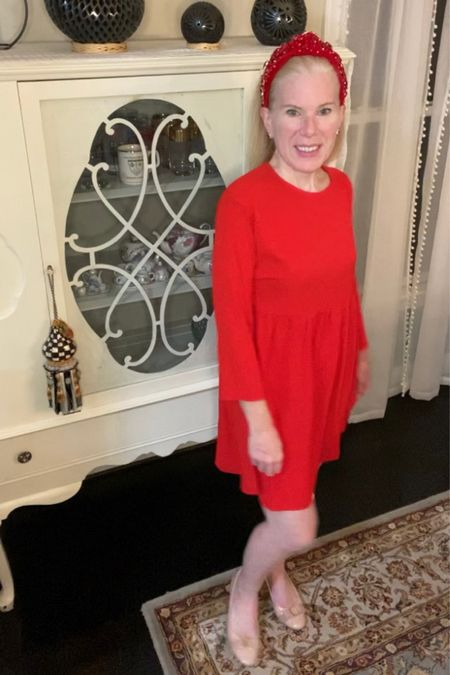 Mixing high and low end is always on my agenda. Super inexpensive dress with splurge worthy shoes, paired with a custom order headband.   Do you like to pair a splurge with a save? What are your favorites?   #ltkdresses #reddress #splurgeorsave #ltkteacher #ltkpetite  #LTKbacktoschool #LTKshoecrush #LTKworkwear