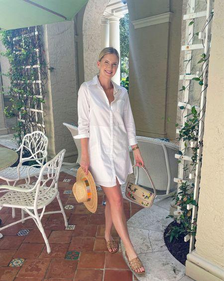 White Oxford shirt dress