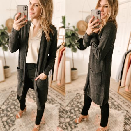 Everyday Cardigan Sweater Color: Charcoal Heather/TTS/wearing a size S  #ifounditonamazon #amazonfashion #amazonfinds #outfitoftheday #ootd #outfitideas #outfitinspo #amazonsweater #amazonfallfashion #amazonwinterfashion   http://liketk.it/3pGeN @liketoknow.it #liketkit #LTKbeauty #LTKfit #LTKstyletip #LTKSeasonal