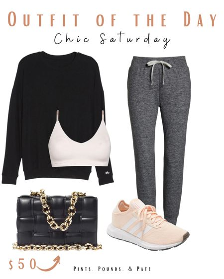 Chic Saturday outfit of the day! Almost all of this is from Nordstrom- they have great athleisure right now! #ootd #nordstrom  #LTKfit #LTKSeasonal #LTKstyletip