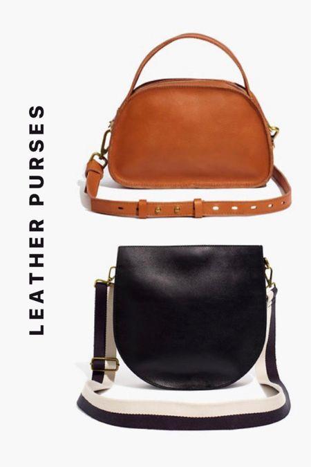 Madewell Leather Purses. Brown and black purses. Saddle bag purse. Crossbody purse.   #LTKitbag #LTKsalealert #LTKSale